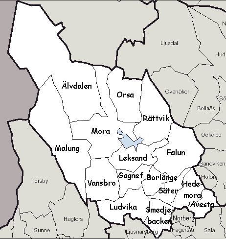 Kommuner Dalarna